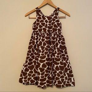 Gymboree giraffe print sundress cotton 9